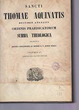 sancti thomae aquinatis- summatheologica  volumen IV -  1853 arm spgl