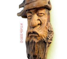 ORIGINAL WOOD SPIRIT CARVING RECYCLED ORGANIC DEBATE NATURAL DUDE X NANCY TUTTLE