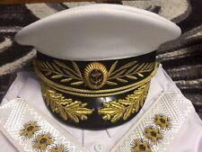 Größe 57 58 60 NEUE russische VMF MARINE Uniform Militär Schirmmütze Admiral