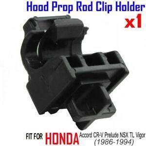 Honda NSX 1991-2005 93 94 01 1x Hood Prop Rod Clip Clamp Holder Black Lock Cover