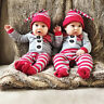 Christmas Baby Boy Girl Newborn Santa Romper Jumpsuit One-pieces Outfits Clothes