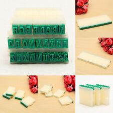26 English Alphabet Letters Plastic Rubber Stamp Detachable Craft Set DIY Hot