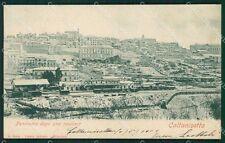 Caltanissetta Città Nevicata Treno cartolina XB0665