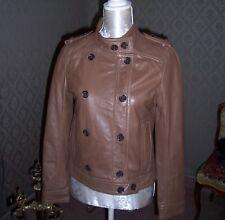 CAROLL veste en cuir fauve neuve etiquettee 40
