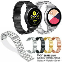 Metal Strap Replacement Watch Band 20mm For Samsung Galaxy Watch Active 42mm
