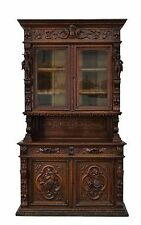 5505019-1 : Antique French Hunt Renaissance Cabinet Buffet Sideboard Figures