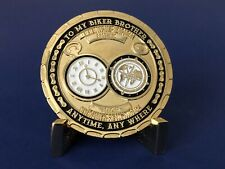 """MOTORCYCLE CHALLENGE COIN """"BIKER BROTHER - BROTHERS FOREVER"""" - BRAND NEW DESIGN"""