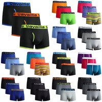 Mens Boxer Shorts Designer Black Fashion Band Underwear Cotton Rich Pack 6-12