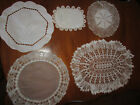 Vintage+Lot+of+5+Crocheted+%26+other+Doilies