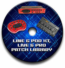 LINE 6 POD XT, LIVE & PRO PRE-PROGRAMMED PATCHES CD OVER 5500! - GUITAR EFFECTS
