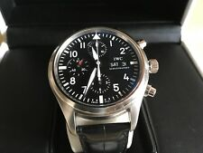 IWC IW371071 Pilots chronograph 2006 Black With Leather Strap