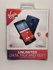 NEW!! - LG Tribute 2 - Quad Core - 8GB - Blue (Virgin Mobile) - FAST SHIPPING!!!