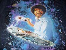 Bob Ross Men's KO Vintage TV Painter Black T-Shirt Size Large L