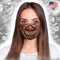 Creepy ,Evil face mask- Washable and Reusable- Scary/ no skin Horror monster