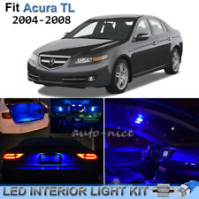 For 2004-2008 Acura TL Brilliant Blue LED Interior Lights Kit 11 Pieces
