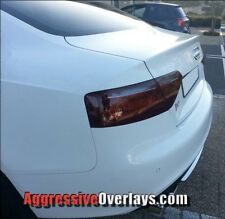 2008 to 2014 Audi A5 S5 RS5 Smoked Tail Light Overlays Vinyl Tint Film Smoke