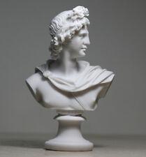 APOLLO God of Music & Light Alabaster  Bust Head Greek  Statue Sculpture 5.9΄΄