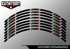 "TO FIT APRILIA WHEEL RIM TAPES GRAPHICS STICKERS DECALS TO FIT 18"" TO 21"" WHEELS"