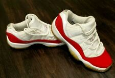 Nikes Air Jordan 11 Retro Cherry  Boy's Size 4y  White Red basketball shoes