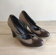 b38af09701 Dries Van Noten CHUNKY HEELS leather round toe heels Women s 38.5