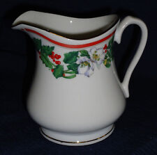 Lynns fine china CHRISTMAS CREAMER holly design