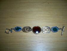 LUCKY BRAND GREEN SNAKE BEETLE THEME VINTAGE CLASP BRACELET WITH GEMS