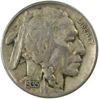 1935 Indian Head Buffalo Nickel 5 Cent Piece VF Very Fine 5c US Coin Collectible