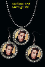 Elvis Presley earrings and necklace set great gift a must have