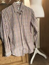 Mens Peter Millar Long Sleeve Button Up Multicolor Plaid Shirt Size Small