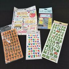 Alphabet Letters Stickers School Preschool Scrapbook Crayon Abc Mixed Lot of 5