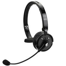 Wireless Headset with Mic Bluetooth Mono Headphone Handsfree For iPhone PS3 Y8G1