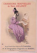 ROEDEL VINTAGE POSTER CHANSONS NOUVELLES DE PAUL DELMET 1897 the new songs
