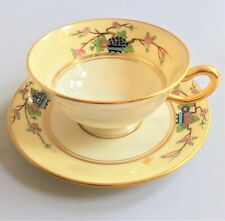 1910 Lenox Mandarin Cup & Saucer - Green Stamp - 5 Available - Xlt Condition !