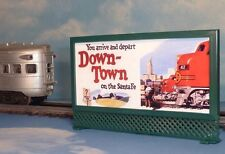 ATSF SANTA FE * MODEL RAILROAD LIGHTED BILLBOARD AD #7 for O, O-27 LIONEL TRAINS