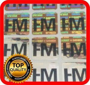 Ihr Logo und Text auf 500 Hologramm Etiketten Garantie Siegel Aufkleber 15x15mm