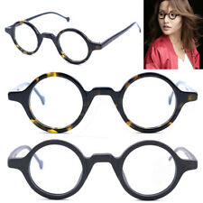 b14d08250f 38mm Vintage Small Round Eyeglass Frames Acetate Rx-able Spectacles Glasses