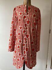 Stella Mccartney Heart Print Silk Dress, Size It40 (uk8-10)