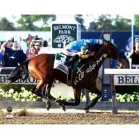Victor Espinoza Signed American Pharoah Celebration Belmont Stakes 8x10 Photo