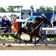 Victor Espinoza Signed American Pharoah Celebration Belmont Stakes 8x10 Photo