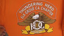 Harley Davidson Thundering Herd Elk Grove California T-Shirt Size XL