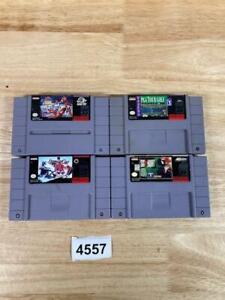 Lot of 4 Super Nintendo SNES Games