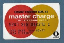 Vint 1977 Credit Card Shawmut Community Bank Master Charge Boston Framingham Ma