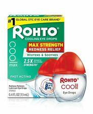 Rohto Redness Relief Cooling Eye Drops  0.4 Fl oz /13 ml    UK Seller