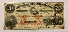 Georgia Savings Bank $20 Macon Georgia