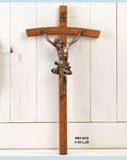 Crocifisso 55 cm in resina, bronzo e legno by Paben