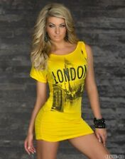 "❣SEXY~ONE-SHOULDER~LONG-TOP~GELB~""LONDON""ONE SIZE"
