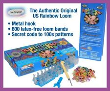 ORIGINAL AUTHENTIC QUALITY RAINBOW  LOOM RUBBER LOOM BANDS SET + METAL HOOK