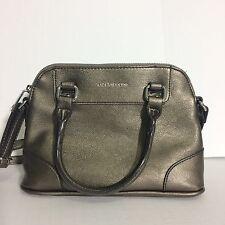 Liz Claiborne Bronze Cross Body Satchel Style Handbag Strap & Handles