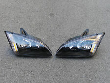 1Pair Front Black Headlights Head Lamps For Ford Focus Mk2 2005-2007