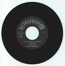 DOO WOP 45 THE FLORESCENTS WHAT ARE YOU DOING TONIGHT ON BETHLEHEM VG+ REPRO